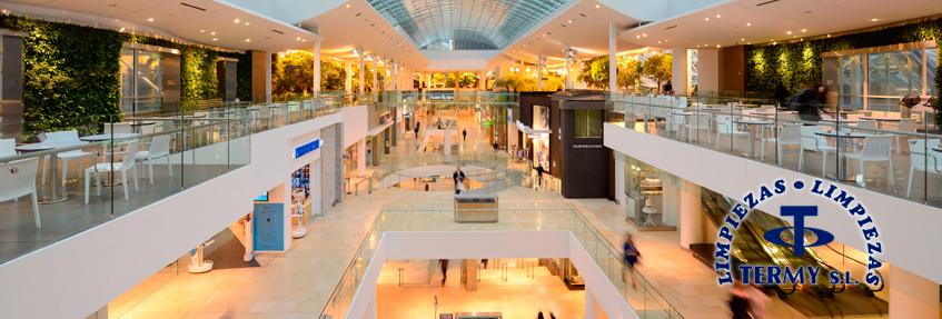 Limpieza de centros comerciales en Madrid